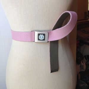 Element Accessories - Element Web Belt in Pink & Olive Green